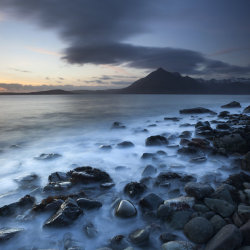 elgol beach sunset
