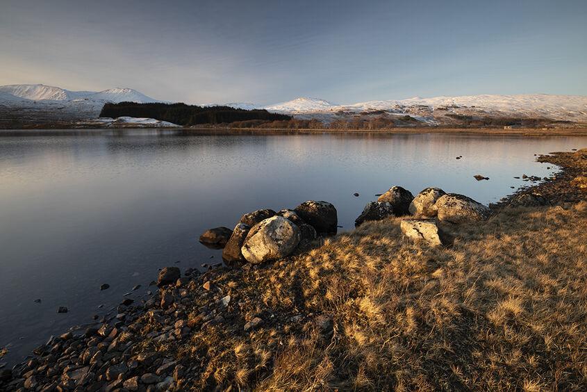 evening warmth, loch tulla