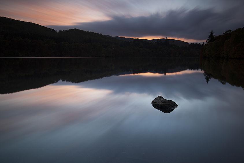 loch faskally sunset