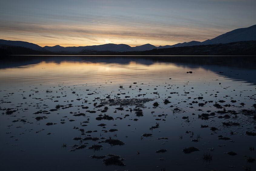 loch tulla sunset
