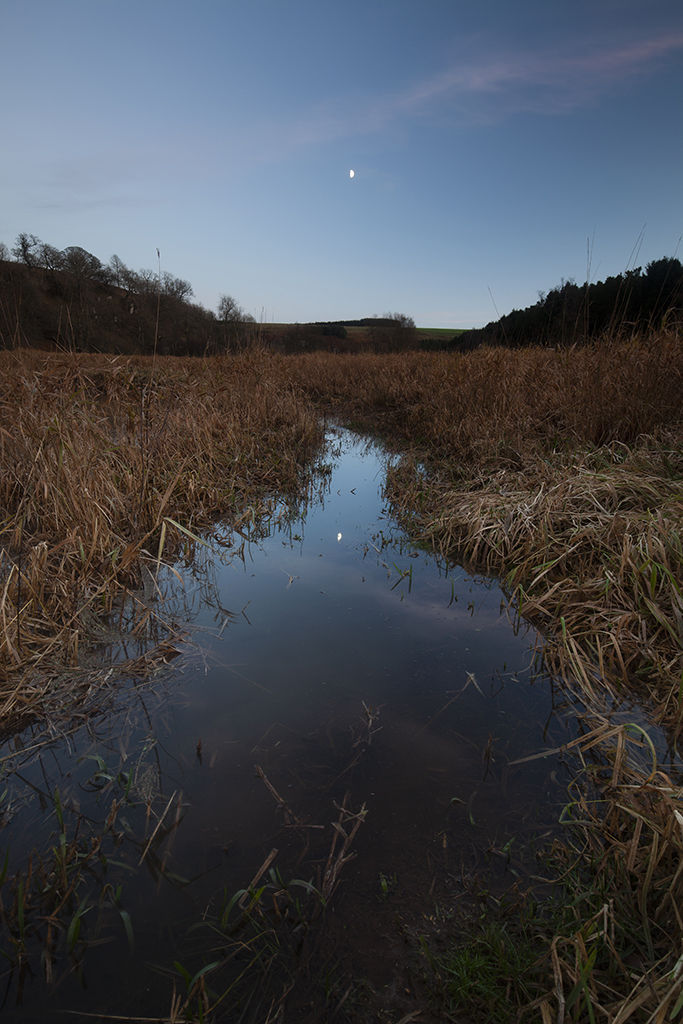 moon reflection, braes of gight
