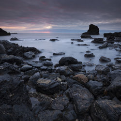 muchalls beach dawn