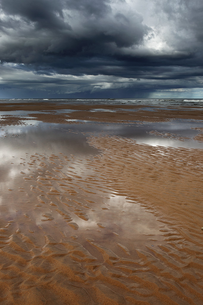 reflections, balmedie beach