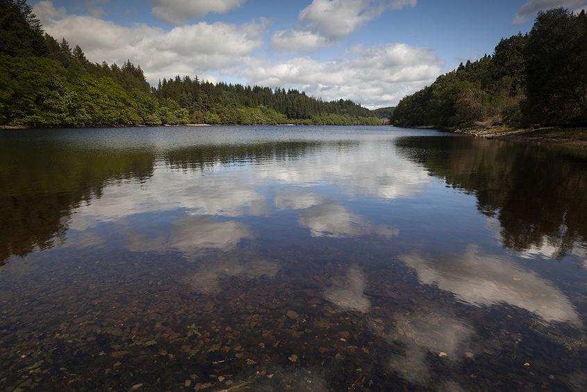 reflections, loch drunkie