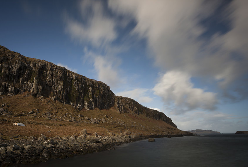 staffin bay cliffs