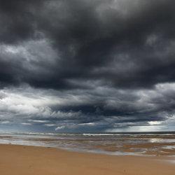 stormy skies, balmedie beach