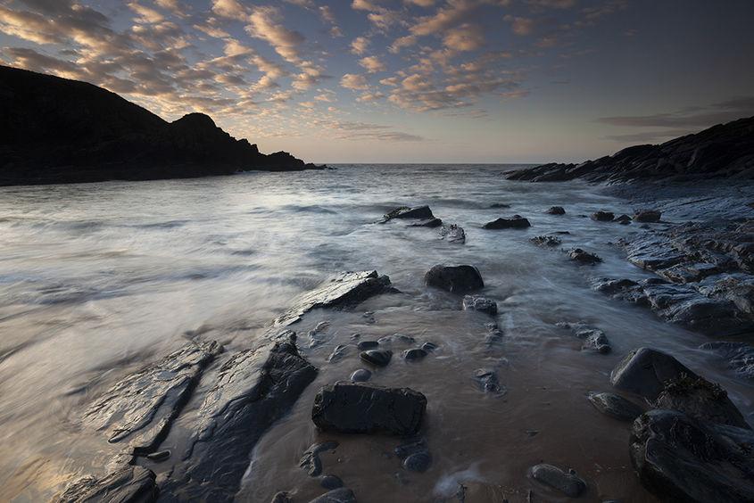 sunrise, collieston beach