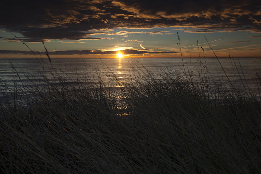 sunrise from the dunes, balmedie
