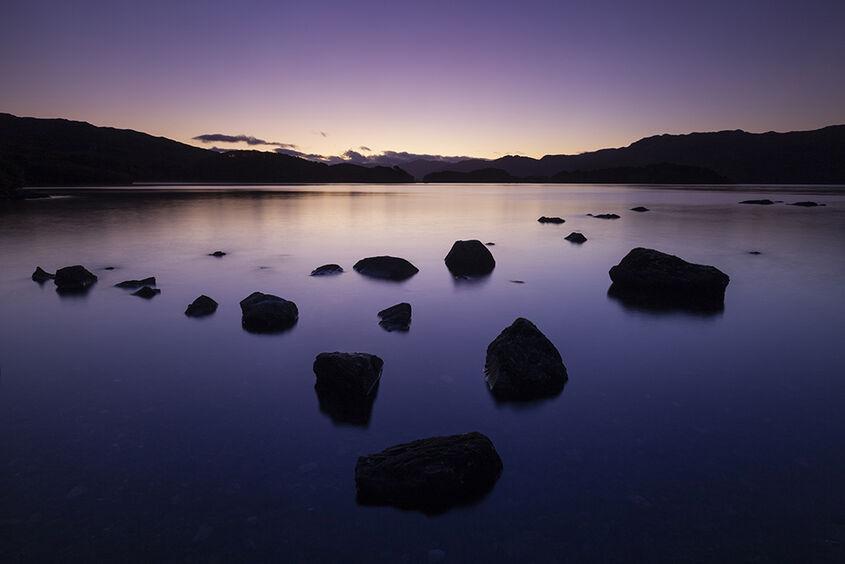 sunrise, loch morar