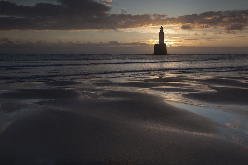 sunrise, rattray lighthouse