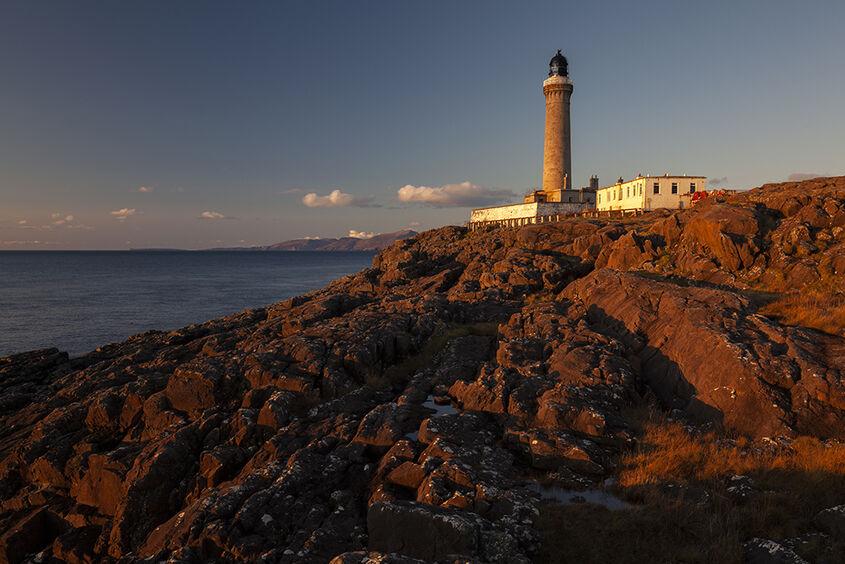 sunset at ardnamurchan lighthouse
