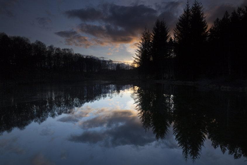 sunset lochan, cambus o' may