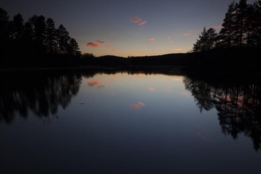 sunset on clarack loch