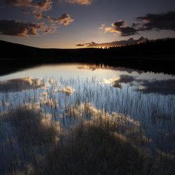 sunset on pronie loch