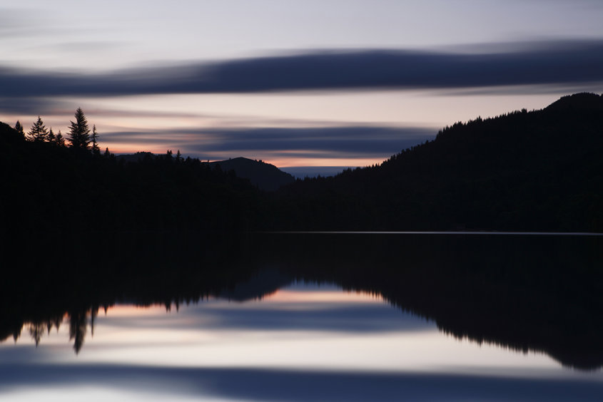 sunset over loch faskally