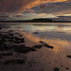 sunset, river ythan
