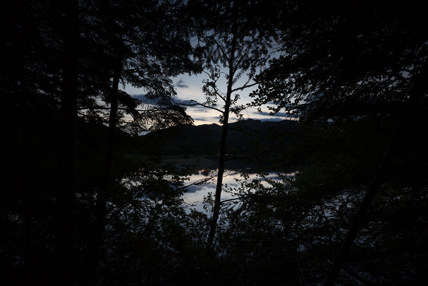 twilight, loch faskally