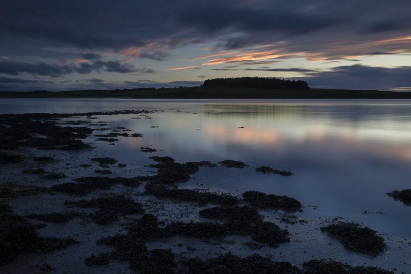twilight, river ythan