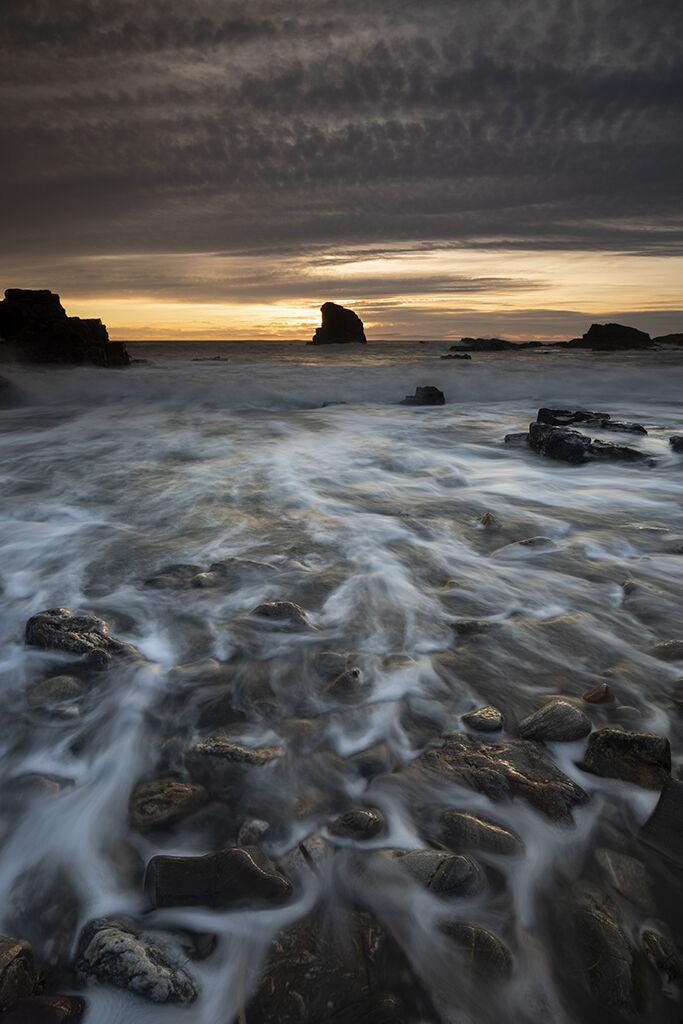 washed away, muchalls beach