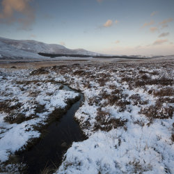 winter by loch muick