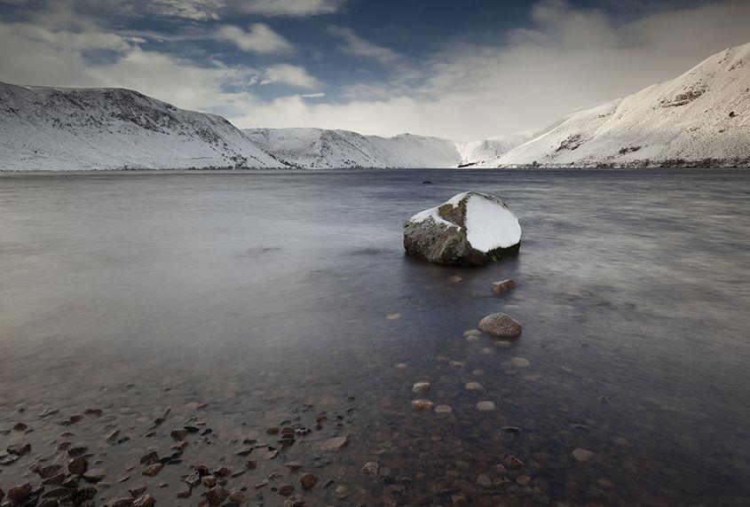 winter on loch muick
