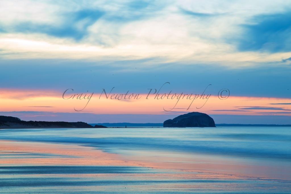 Bass Rock from Limetree Walk Beach, East Lothian, Scotland