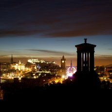 Calton Hill to Castle Rock, Edinburgh, Scotland