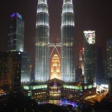 The Petronas Twin Towers, Kuala Lumpur, Malaysia