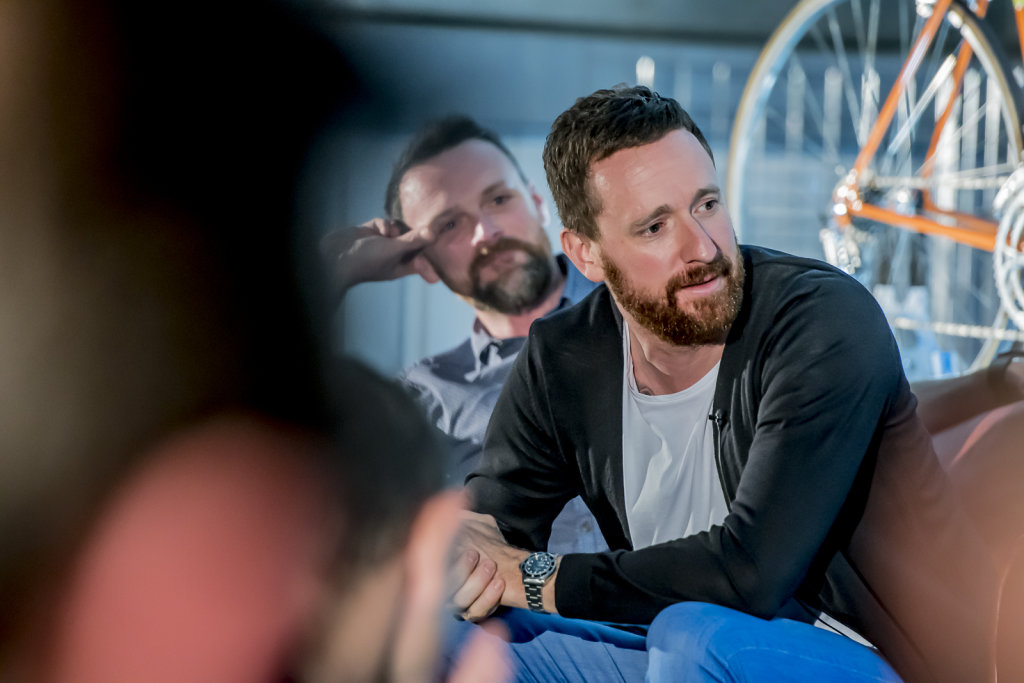 Sir Bradley Wiggins at his 'Icons' book launch, The Fell