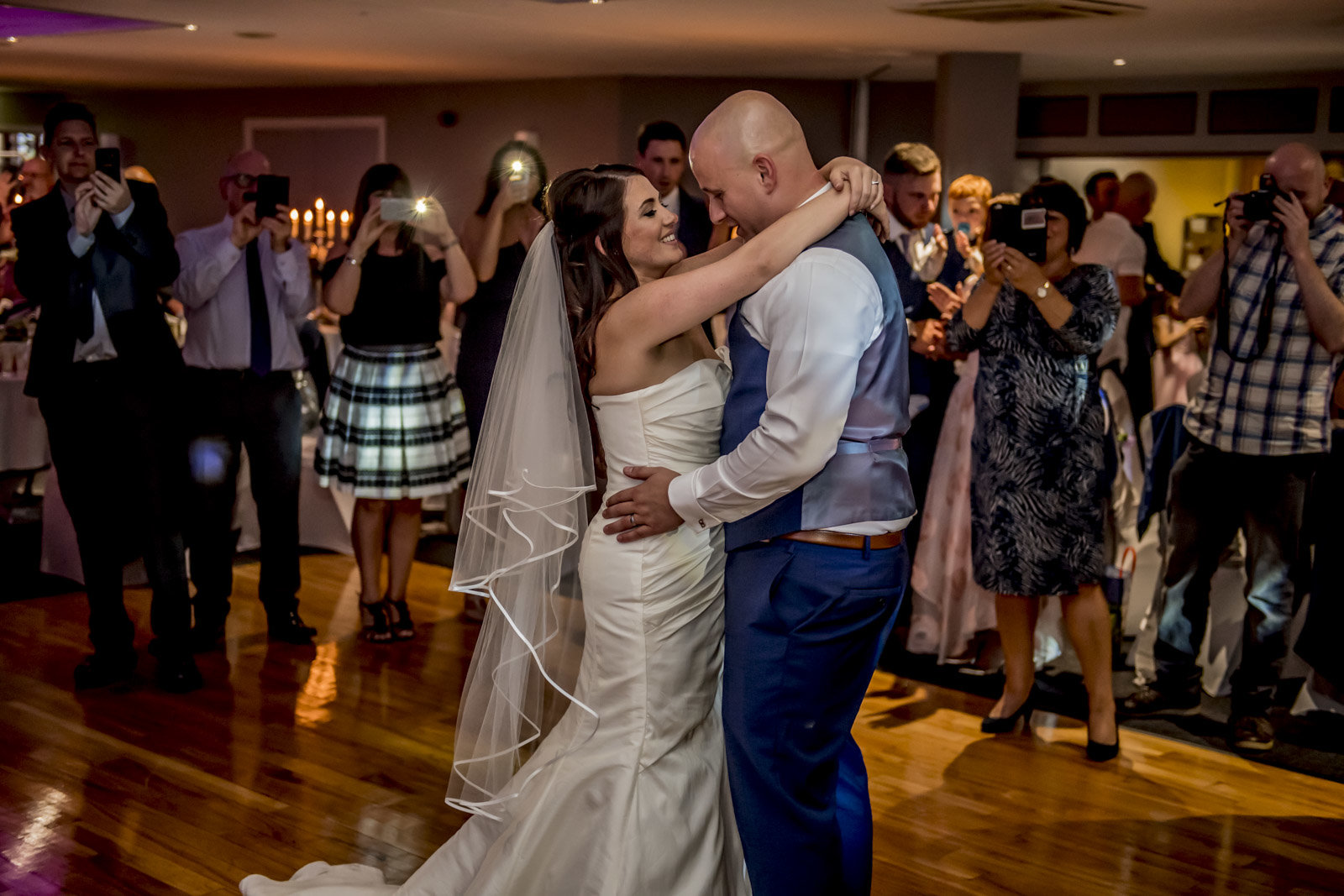 First dance for Kyle and Sarah
