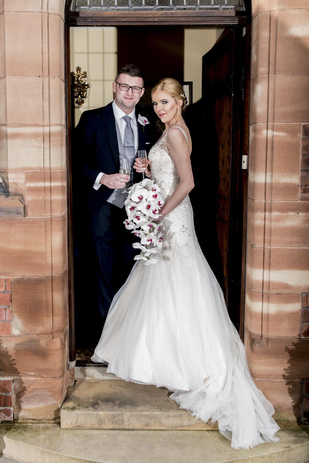 Jen and Rich Formal in door