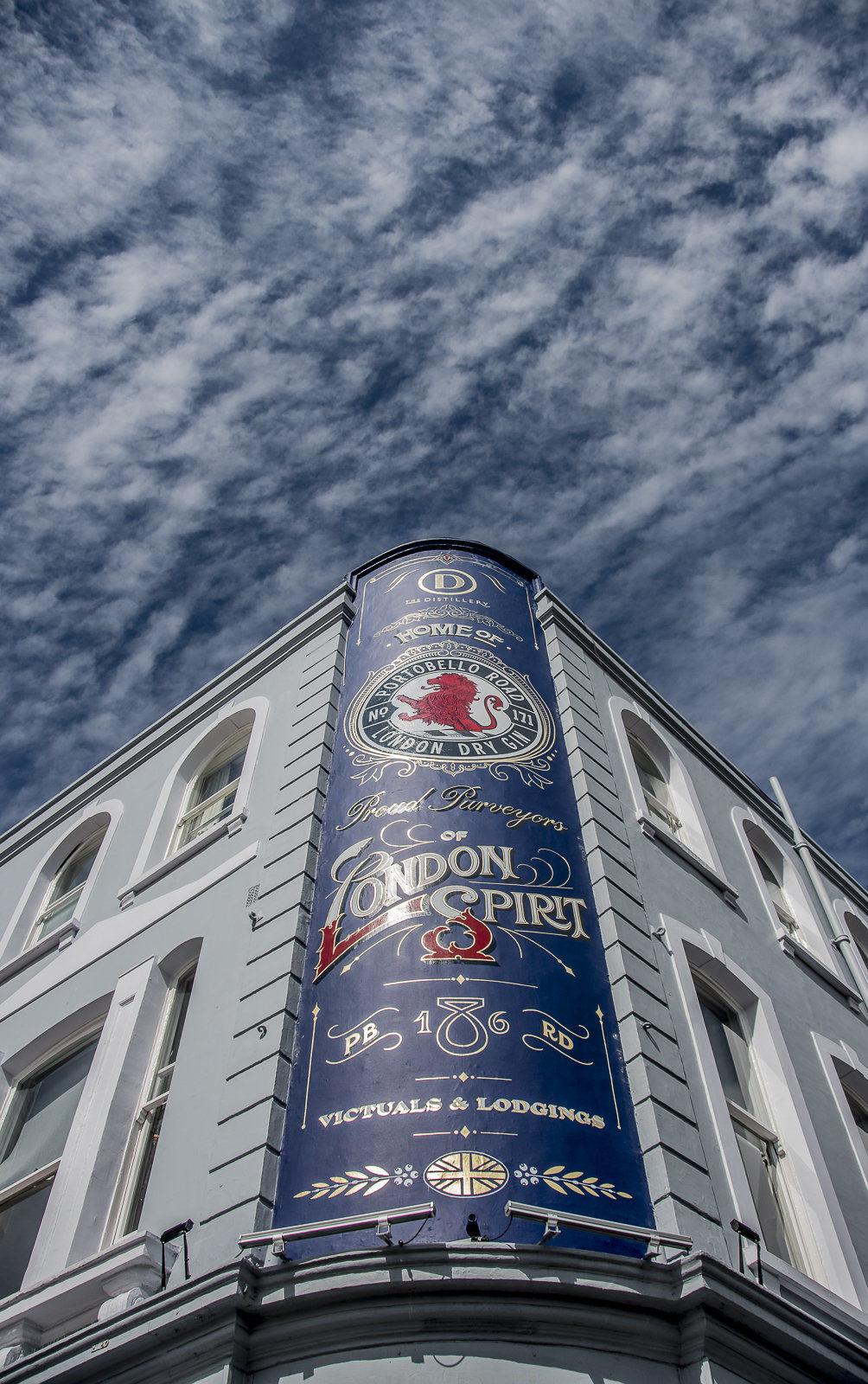 London Spirit advert, Portobello Road, London