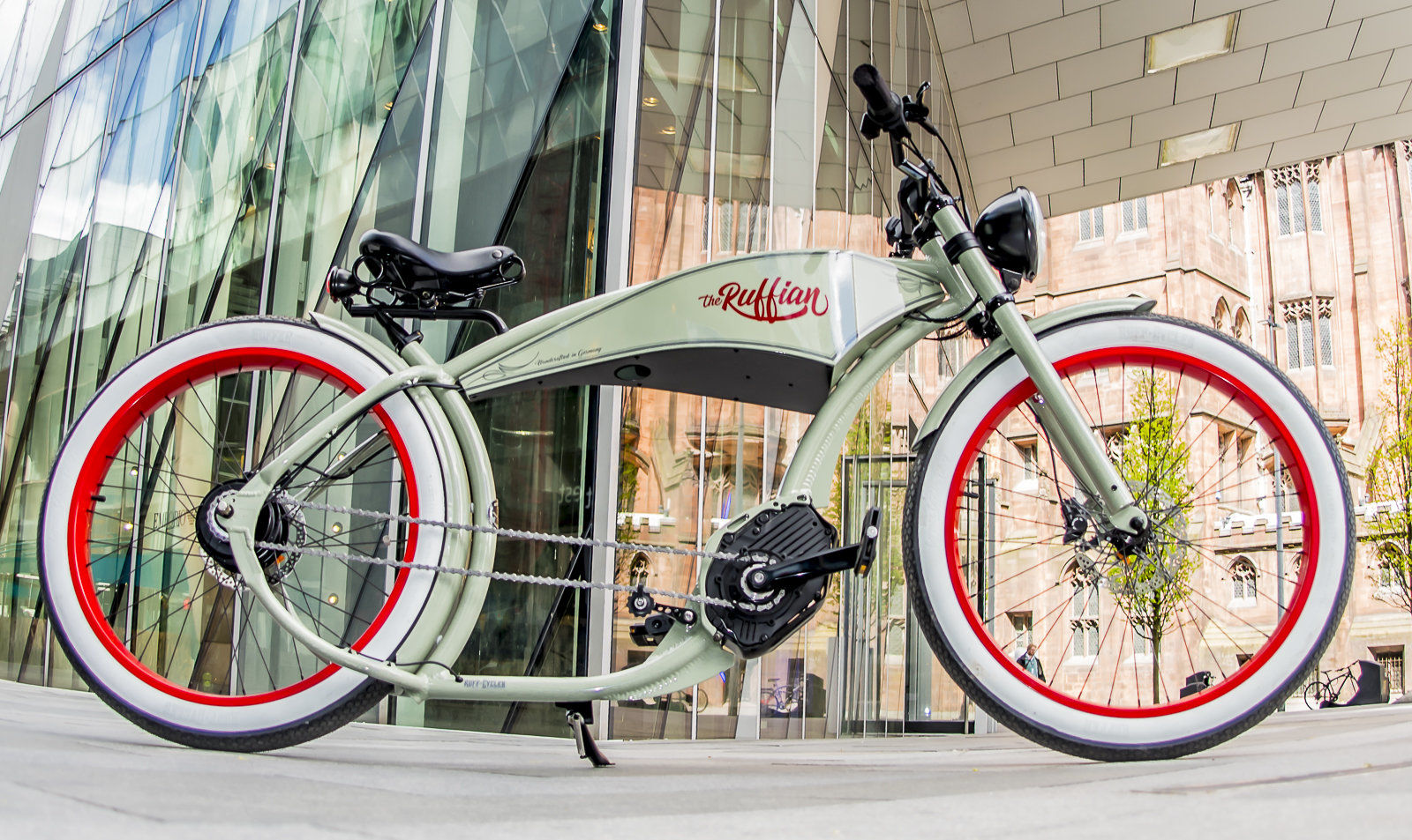 Ruffian e-bike at Spinningfields, Manchester
