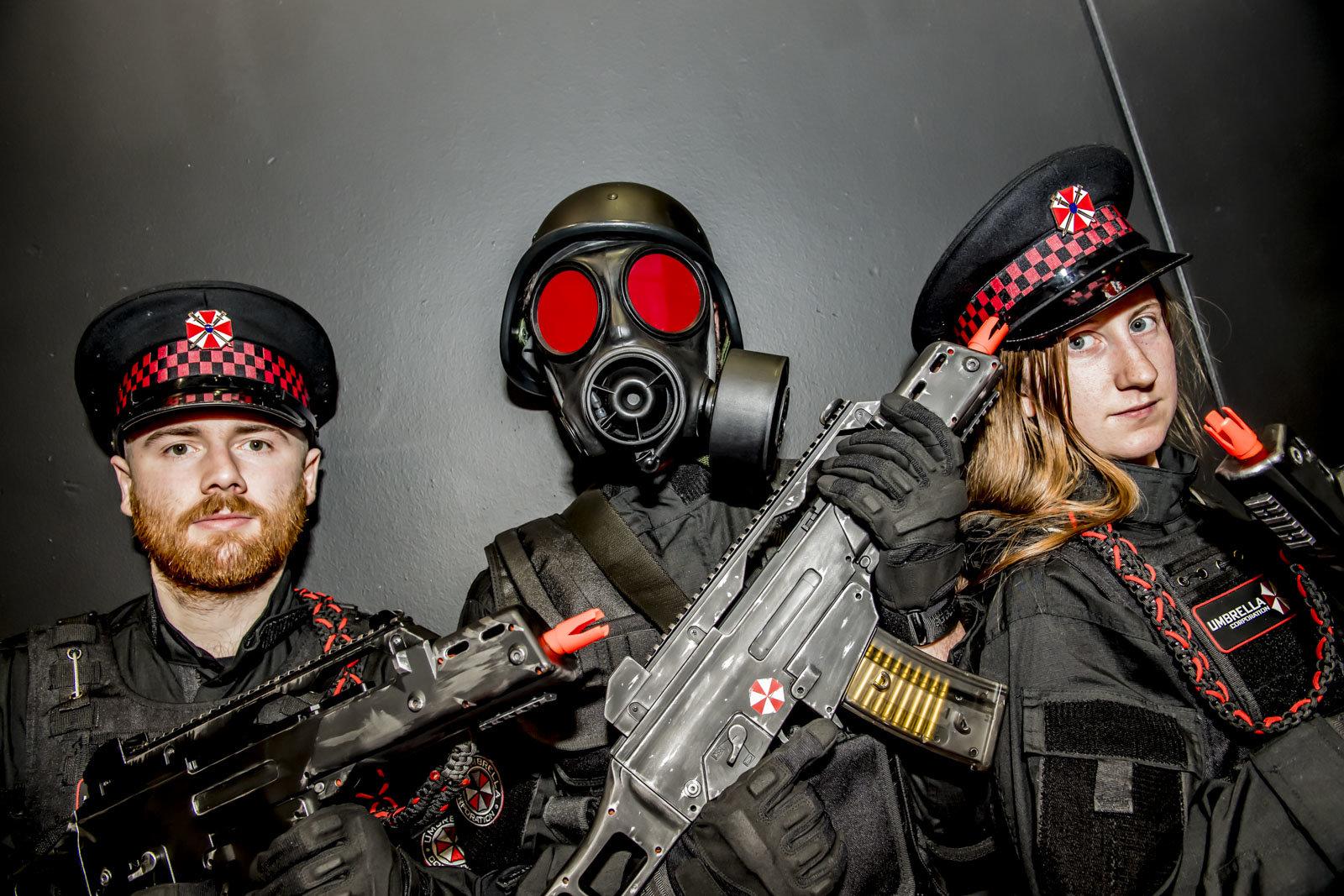 Umbrella Corp goons at ComicCon