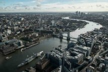 View from the Shard towards Essex