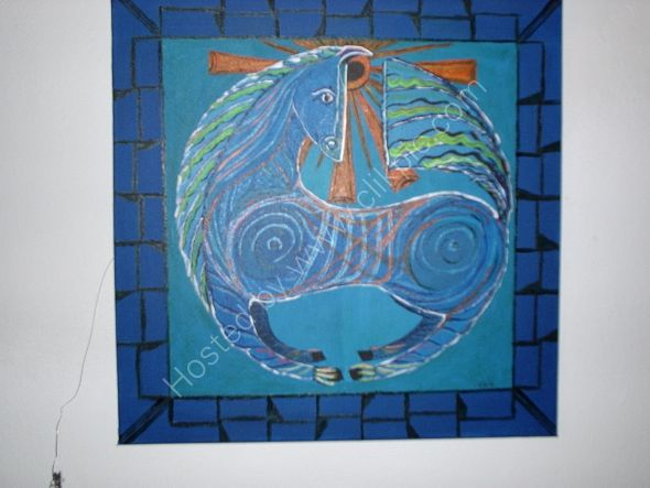 caballo azul