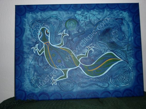 gecko en azules