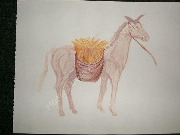 mula con alforja
