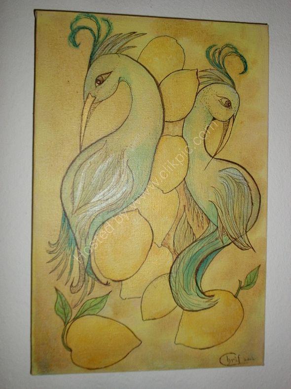 sueño de aves con limones