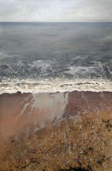 Acrylic Painting of shoreline