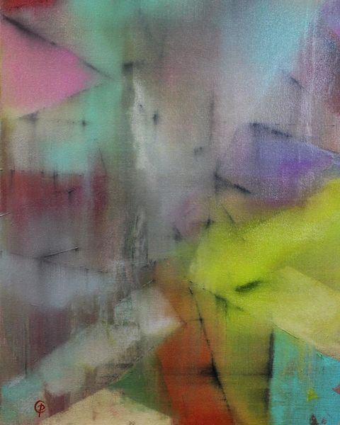 Colourful Abstract Painting on Canvas