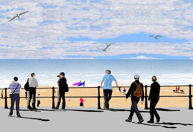 Cromer, view from Promenade