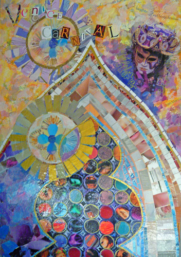 Venice Carnival-Collage & Mixed Media