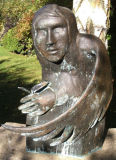 Messenger-Sculpture Cold Cast Bronze