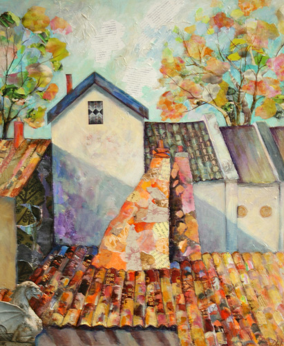 Medieval Rooftops-Denise Wingrove