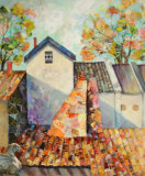 Medieval Rooftops-Denise Wingrove