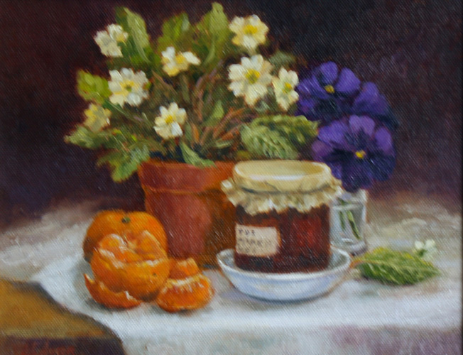 Still Life with Mandarins-Marian Auger