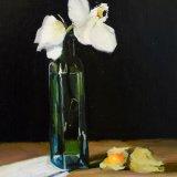 liz balkwill orchid in green vase