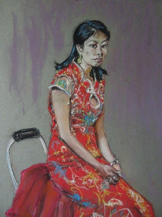 Model in traditional eastern dress