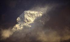 Annapurna in Cloud.  Western Himalayan Range, Nepal